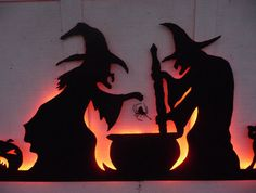halloween witches silhouettes - Buscar con Google