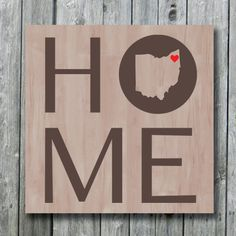 Ohio State Map Home Sign with Hear by doudouswooddesign, $25.00 #youngstown