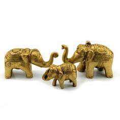 Familie cu 3 elefanti din bronz - CadouriSelecte.ro - Magazin feng shui si cadouri selecte.