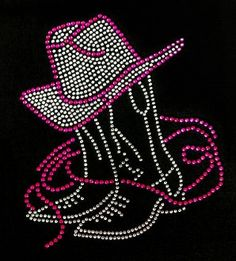 Rhinestone Iron On Cowboy Boots Cowboy Hat by BlingMeBaby on Etsy, $11.99