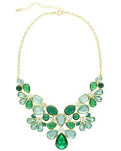 Sparkling Sage 14K Plated Resin Statement Necklace is on Rue. Shop it now.