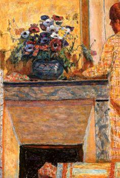 Flowers on the Mantelpiece at Le Cannet Pierre Bonnard - 1927