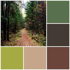 Enchanted forest color scheme