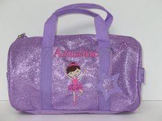 Personalized 10  Dance Bag Ballet Bag  Duffle by kozykidzboutique, $29.95