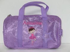 Personalized 10  Dance Bag Ballet Bag  Duffle by kozykidzboutique, $29.95