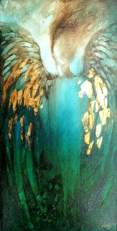 Angel in Gold and Turquoise