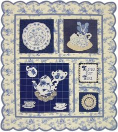 This Sew Simple Sampler™ pattern is all appliqué, with special touches  like vintage doilies. The design allows you to use one of those beautiful toile fabrics whole, as your background.