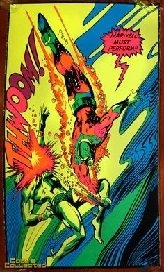 marvel third eye poster blacklight thwoom via Cool & Collected