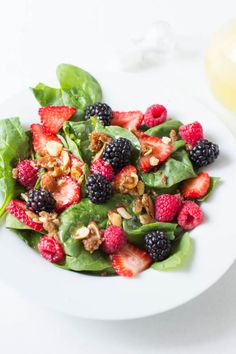 Strawberry Salad with Brown Sugar Almonds..the perfect summer treat!