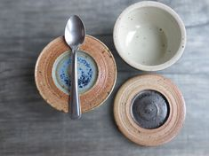 2 Ceramic lidded jars vessel container with lid stoneware pottery cellar for salt pepper herbs spices wood-fired earth color Set of 2 on Etsy, $58.90