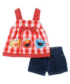"""Sesame Street """"Zoe and Co."""" 2-Piece Outfit"""