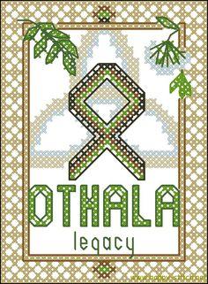Othala, the property – rune cross stitch pattern | Happy Stitch