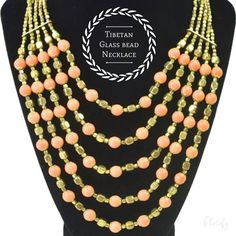 Tibetan Glass Bead Necklace   www.desideratadecor.com