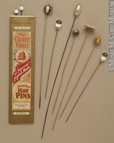 Hatpins 1910. Lovely!    https://www.artexperiencenyc.com/social_login/?utm_source=pinterest_medium=pins_content=pinterest_pins_campaign=pinterest_initial
