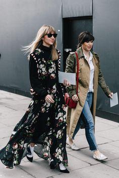 London Fashion Week 2017 Street Style   via Collage Vintage