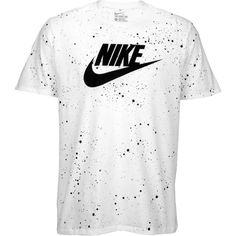 Nike Graphic T-Shirt - Men's - Casual - Clothing - White/Black (40 CAD) ❤ liked on Polyvore featuring men's fashion, men's clothing, men's shirts, men's t-shirts, shirts, tops, nike mens t shirts, mens t shirts, mens black white striped shirt and mens graphic t shirts