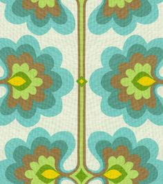 Home Decor Print Fabric-HGTV HOME Flower Tower Turquoise & Print Fabric at Joann.com