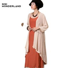 Women summer casual trench coat half sleeve thin cotton linen irregulrar Outerwear & Coats plus size fashion Cardigan clothes. Yesterday's price: US $16.53 (13.68 EUR). Today's price: US $16.53 (13.67 EUR). Discount: 43%.