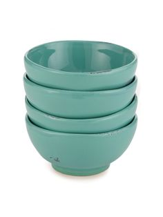 $68 Festa Bowls from Fortunata (set of 4) in Azzure - Handmade ceramic bowls from Tuscany