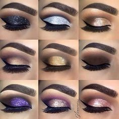 Nighttime smokey eyeshadows