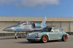 Chances are, if you've seen an amazing custom Porsche 911, the guys at Singer Vehicle Design put it together. Their latest creation features the classic Gulf Racing blue and orange with a 360-horsepower, 3.8-liter flat-six. Nearly everything about this bad boy has been remained by Singer and the end result is something you'll want to have in your garage forever and ever. via AutoBlog