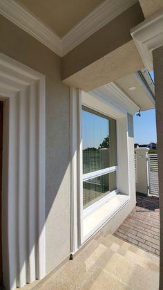 Casa pe parter in Corbeanca | CoArtCo House Foundation, Design Case, Architect Design, Home Fashion, House Plans, Windows, House Styles, Home Decor, South Africa