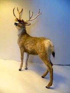 Dollhouse Miniature Mule Deer  *Handsculpted*