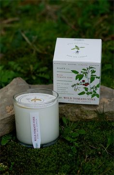 So cool! The box that holds this eco-friendly soy candle can be planted to grow a tomato vine.
