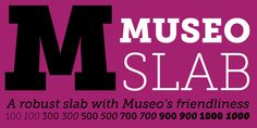Museo Slab, a contemporary slab serif typeface from Jos Buivenga. Museo Slab is a strong and robust slab serif typeface created by self-taught type Slab Serif Fonts, Typography Fonts, Serif Typeface, Minimalist Font, Best Free Fonts, Font Free, Commercial Fonts, Free Fonts Download, Premium Fonts