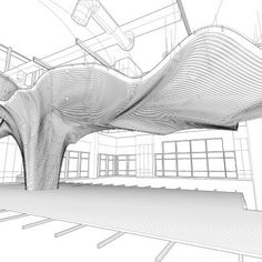 One Main Office Renovation: Project: One Main office renovation Architect: dECOi Architects Project location: Cambridge, MA Poject date: 2009 This pe. Parametric Architecture, Canopy Architecture, Museum Architecture, Parametric Design, Organic Architecture, Architecture Design, Architecture Diagrams, Architecture Portfolio, Architecture Concept Drawings