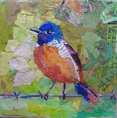 Elizabeth St. Hilaire Nelson, paper collage, #collage, #bird