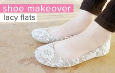 Shoe Makeover: Graceful Lace Flats