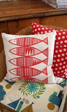 Fishy Print Cushion Sewing Kit