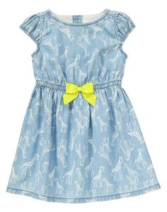 Chambray Giraffe Dress at Gymboree Collection Name: Painting Pals