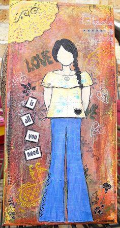 Hippie Girl by Karen