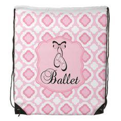 Ballet Shoes Drawstring Bag