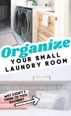 This small walk through laundry room is full of organization and storage despite. This small walk Laundry Pods, Laundry Room Sink, Laundry Cabinets, Small Laundry Rooms, Laundry Room Organization, Laundry Hacks, Cupboards, Small Space Organization, Organization Ideas