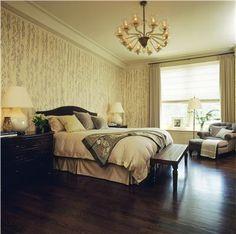 Airy Transitional Bedroom by Glenn Gissler