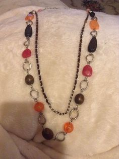 """Vintage Two Layered Necklace 17"""" Long #1193"""