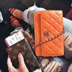 Last week travelling items with @qatarairways (and my new Chanel WOC)  #lovelypepa #lovelypepatravels