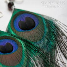 A simple tutorial that teaches how to make your own peacock feather earrings.