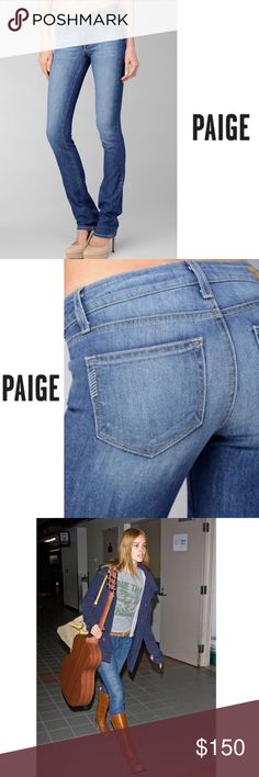 PAIGE Jeans•Skyline Straight Jeans[25]• • \\PAIGE Jeans// *Limited Edition///Celebrity favorite* ::: Skyline straight leg ::: Medium wash ::: Medium rise denim jeans ::: Soft :::: Mild stretch ::: Zipper+ button to close ::: Worn a few times [In good condition] ::: Some fading but naturally distressed look ::: Size [25]• Paige Jeans Jeans Straight Leg