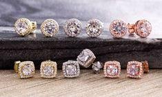 CTTW Halo Stud Earrings with Swarovski ElementsStone type: Swarovski Elements crystalsTotal carat weight: CTTWCut: goodMetal: BrassPlating: white goldClosure type: butterfly lockNickel and lead freeStud diameter: di. Diamond Earrings, Stud Earrings, Halo, Swarovski Crystals, White Gold, Silver, Things To Sell, Jewelry, Lead Free