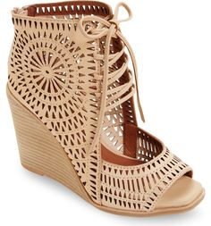 e04e9ef1e3e Jeffrey Campbell Rayos Perforated Wedge Sandal (Women)