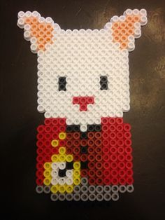 The rabbit with the clock from Alice in wonderland perler bead