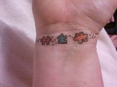 Autism tattoos are very common nowadays, and there are many reasons for this, but the main one is because more people are becoming aware of this condition. Autism is a neurological disorder with no known cure, and it affects speech… Continue Reading → Rip Daddy Tattoos, Bff Tattoos, Future Tattoos, Finger Tattoos, Body Art Tattoos, Tree Tattoos, Tatoos, Unique Tattoos, Cool Tattoos