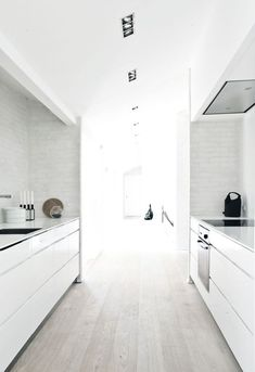 Modern Interior Properties in a Traditional Exterior Design of the Fredensborg House, by NORM Architects Galley Kitchen Design, Galley Kitchens, New Kitchen, Kitchen Interior, Home Kitchens, Kitchen White, Kitchen Decor, Kitchen Designs, Kitchen Ideas