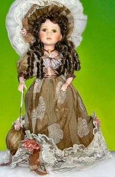 Victorian Porcelain Doll-unique Victorian doll-Porcelain Victorian Doll-Julia