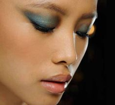 If ever there were a reason to try the colored smoky eye: Jason Wu's classy interpretation, backstage at his Fall 2012 show.