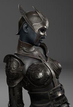 Rory Björkman on Behance Medieval, 3d Character, Character Design, Cyberpunk, Unicorn Logo, Experimental Music, Sci Fi Armor, Warrior Girl, Armor Concept